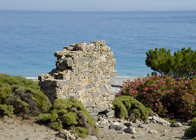 Ruins by the seaside in Agia Roumeli